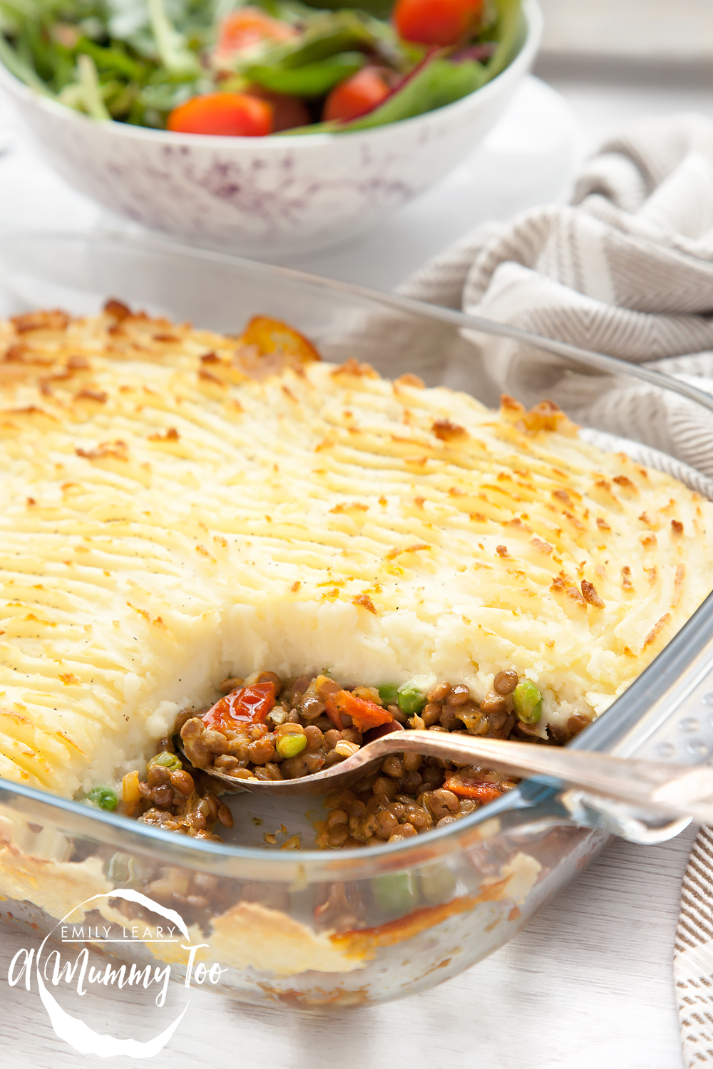 Spicy lentil vegetarian shepherd's pie
