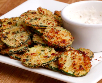 Chips de zucchini, una receta simple y saludable