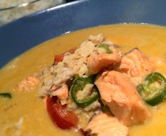 Pesce thai con curry e cocco - Thai style fish with curry-coconut souce