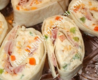 Honey Ham and Cheddar Cheese Pinwheels