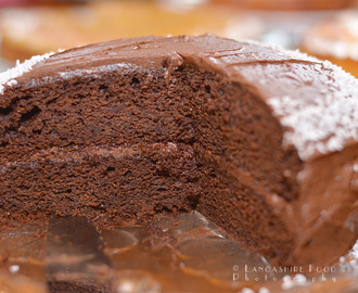 Gluten free, dairy free chocolate cake, with vegan frosting