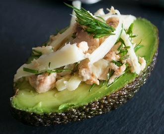 Avocado, Salmon and Palm Heart Boats