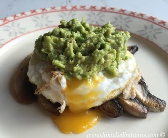 Mushroom, Egg and Avocado Brunch - #CookBlogShare Week 7