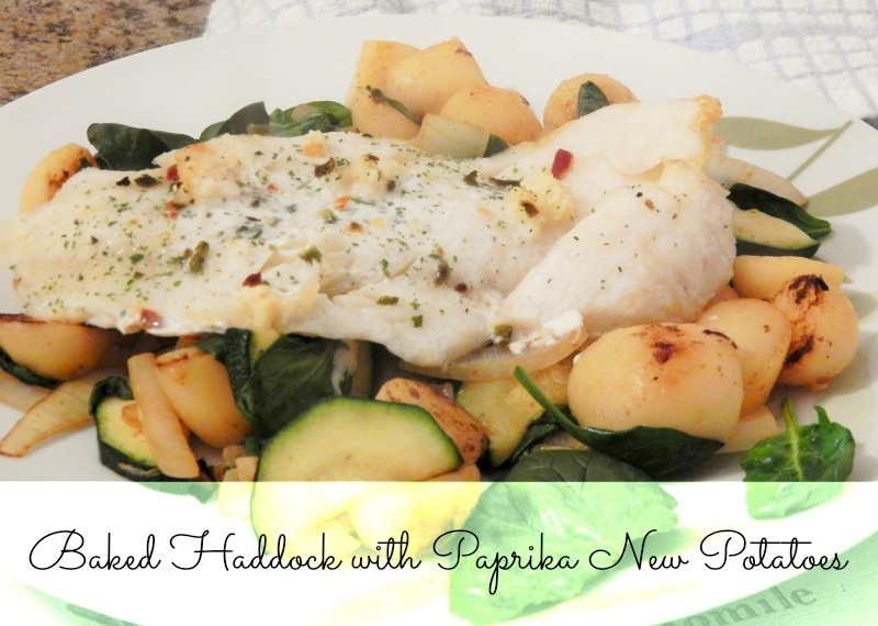 Baked Haddock with Paprika New Potatoes