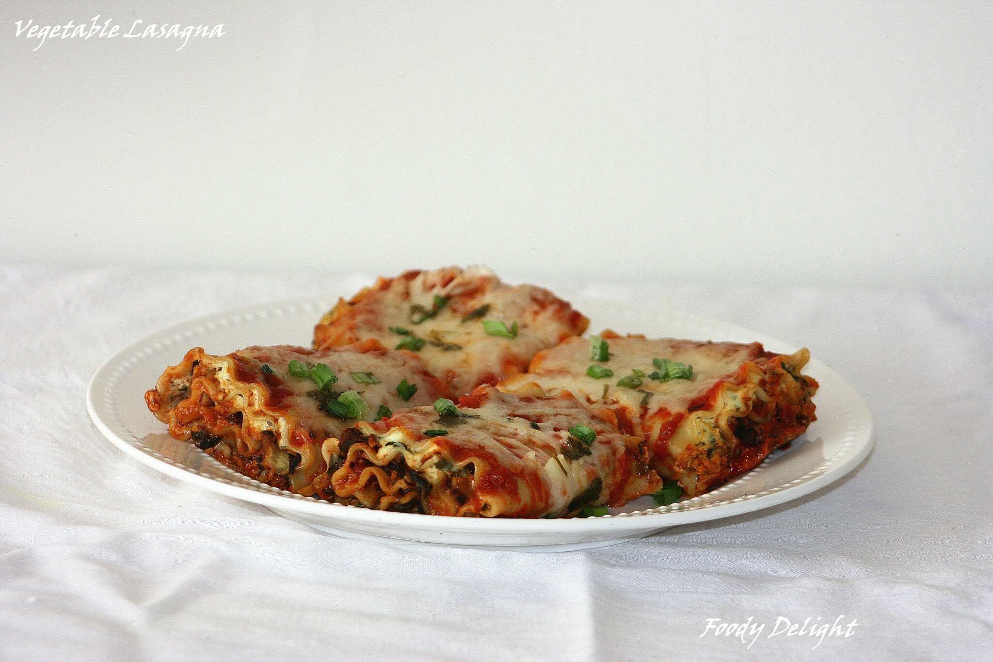 Vegetable Lasagna - Roll Ups