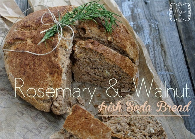 Rosemary & Walnut Irish Soda Bread + Bread spread with wild garlic / Irski kruh z rozmarinom in orehi + Namaz s cemazem