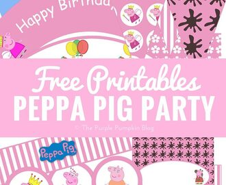 Peppa Pig Party Ideas + Free Printables