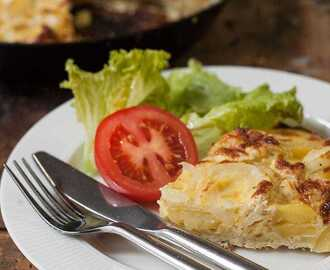 Easy Spanish Tortilla- Potato and Onion Omelette