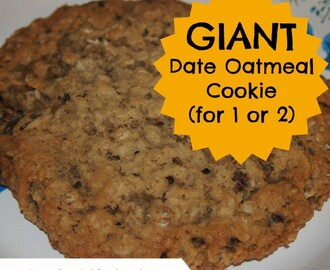 Giant Date Oatmeal Cookie (for 1 or 2)