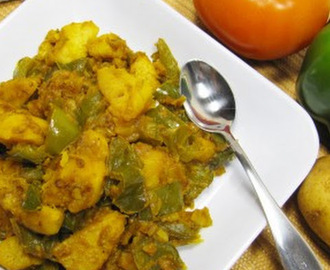 Patatas fritas con pimiento verde .:. Fried potatoes with green pepper