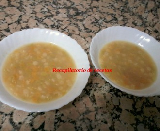 Sopa de caldo base con thermomix