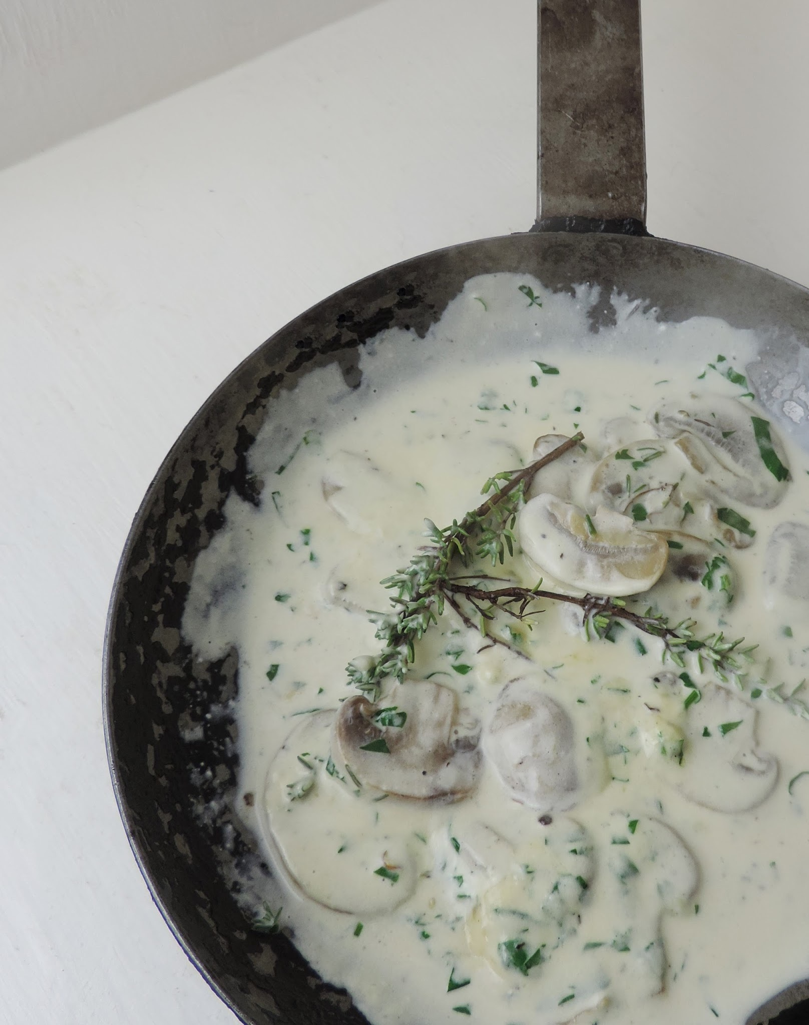 Mushrooms in a Cream and Herbs