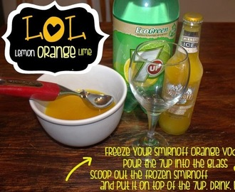 LOL | LEMON + ORANGE + LIME | 7UP + SMIRNOFF ORANGE SCREWDRIVER