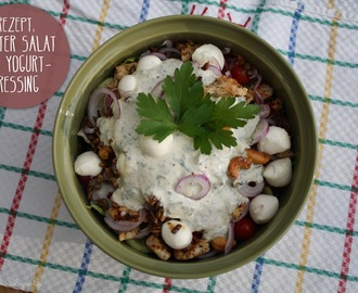 Rezept: Bunter Salat mit Yogurt Dressing