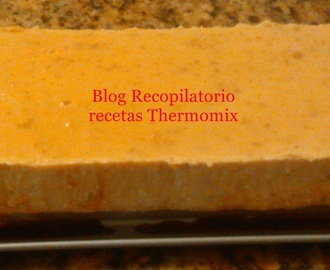Flan de quesitos con turrón blando thermomix