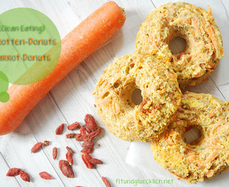 {Clean Eating} Karotten-Donuts mit Gojibeeren / Carrot Donuts with Goji berries