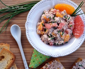 Apéro time : Rillettes de thon à l'orange et au pamplemousse rose !