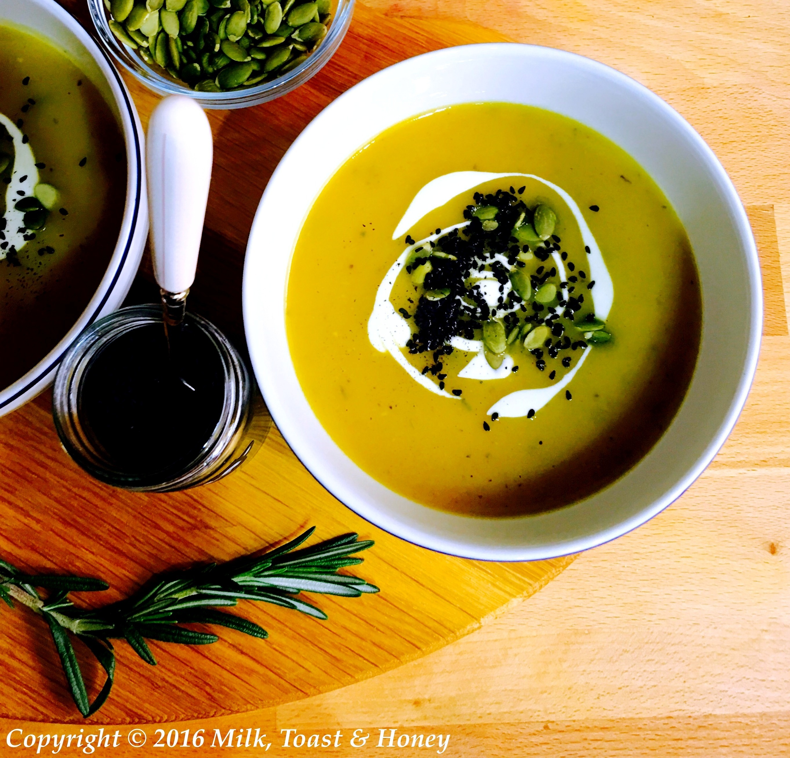 Butternut squash and rosemary soup
