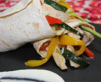 Wrap de pollo y verduras [#Asaltablogs Invisible]
