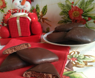 Galletas cubiertas con chocolate