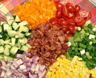 Summer Corn Chopped Salad