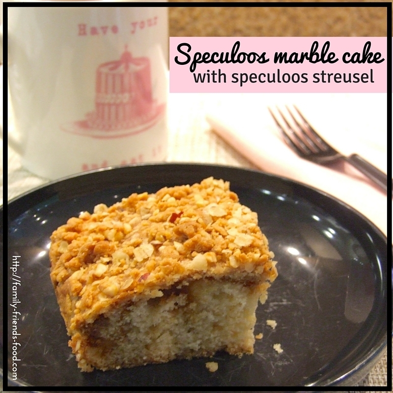 Speculoos marble cake with speculoos streusel