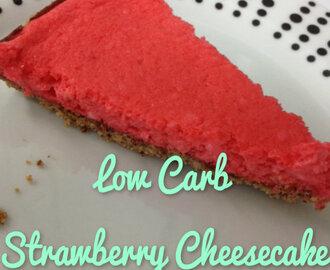 Low Carb Strawberry Cheesecake