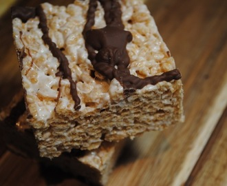 Ultimate Chocolate + Marshmallow Crispy Squares recipe
