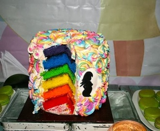 Rainbow Cake for Holi!