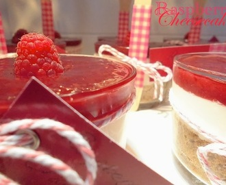 Raspberry Cheesecake in a glass
