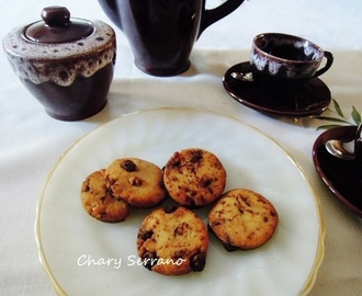 Cookies de trigo, arroz y avena, con trocitos de chocolate