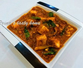 Kadai paneer (cottage cheese)
