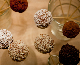 Chocolate Cake Pops (vegan)