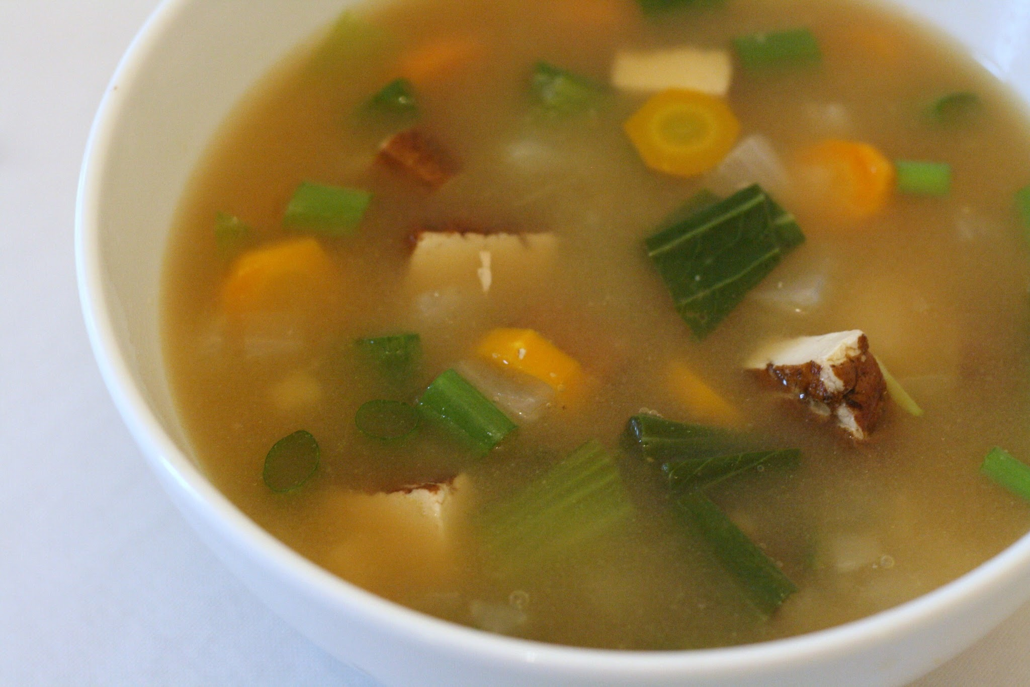 Miso Soup with Garlic and Ginger