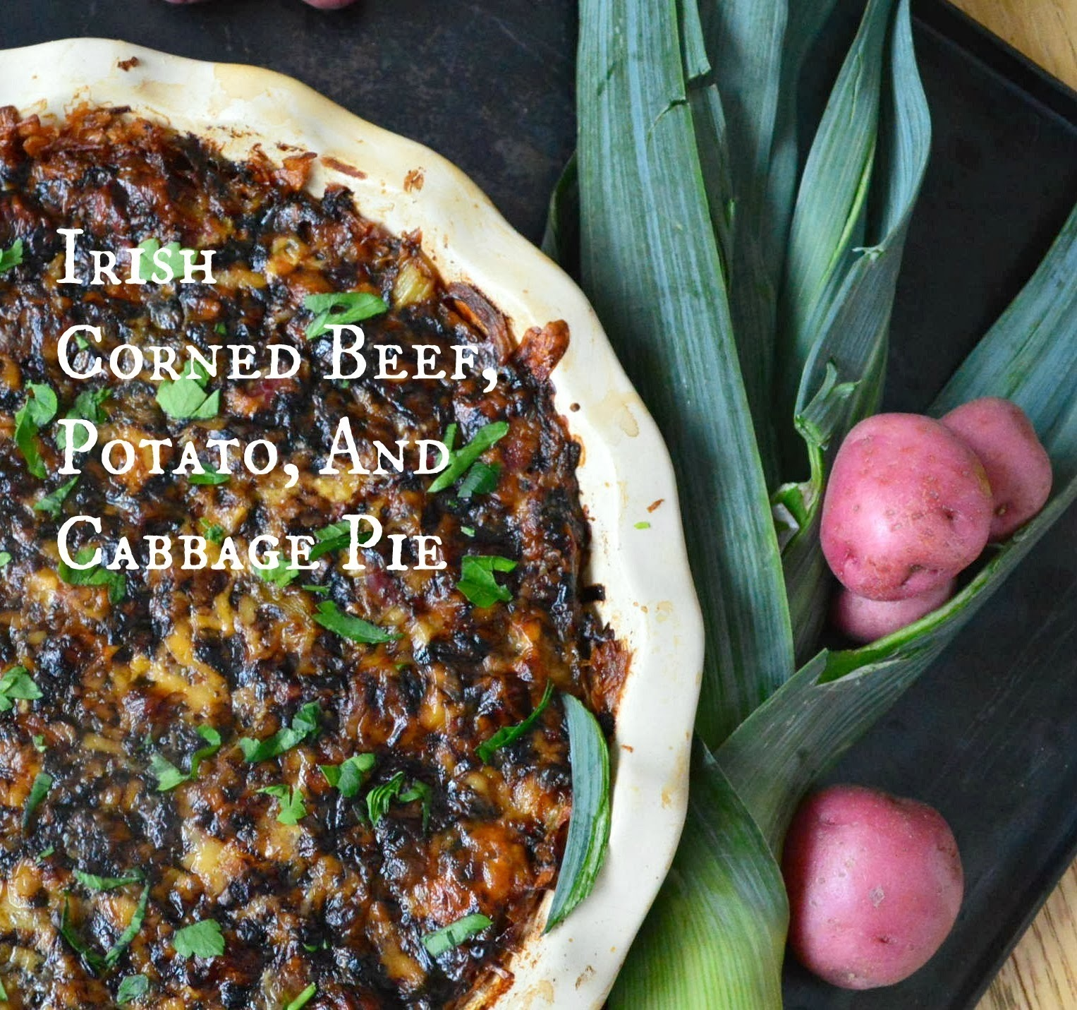 Irish Corned Beef, Potato and Cabbage Pie Plus a #Whole Foods #Giveaway