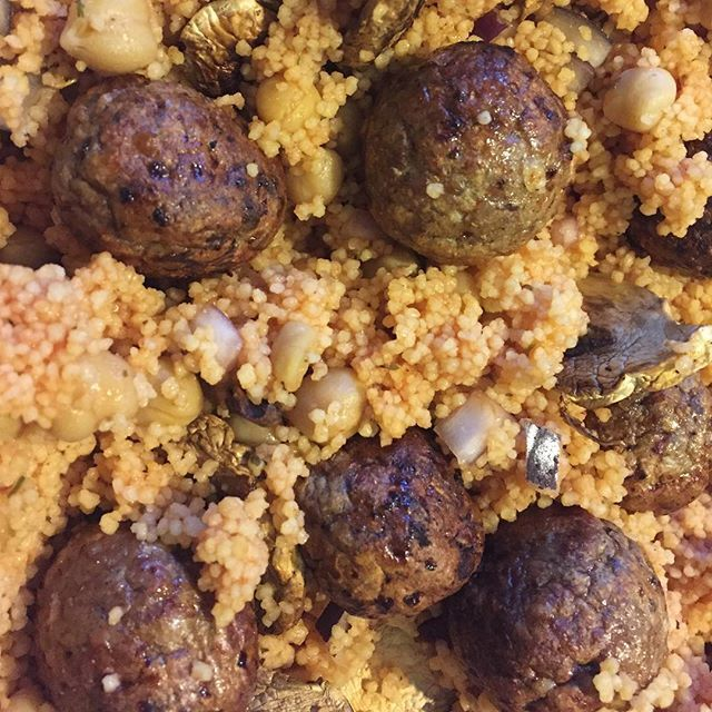 #PowerofFrozen – Tomato and Chickpea Cous Cous with meatballs….