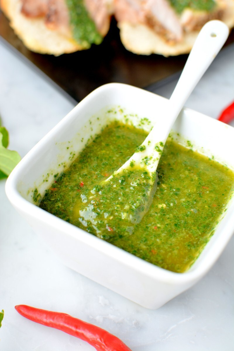 Fish Mint Chimichurri