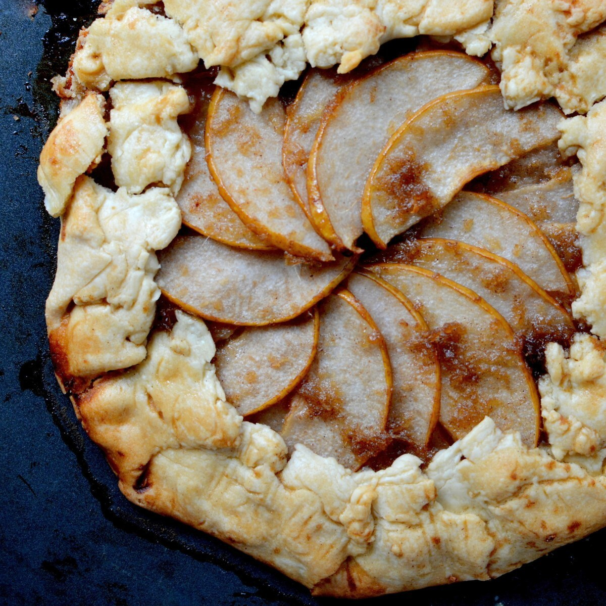 Asian Pear and Ginger Galette
