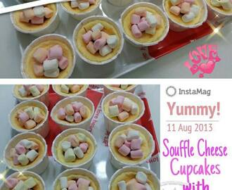 Souffle Cheese Cupcakes with Marshallows