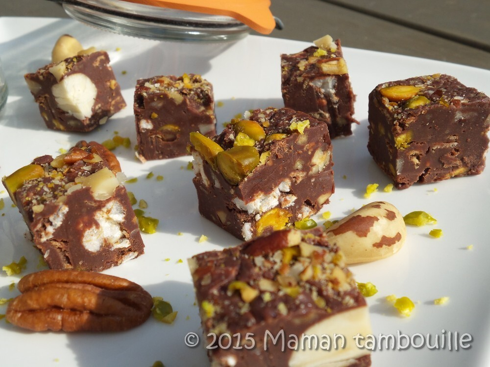 Fudge aux fruits secs