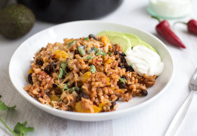 Slow cooker burrito bowls