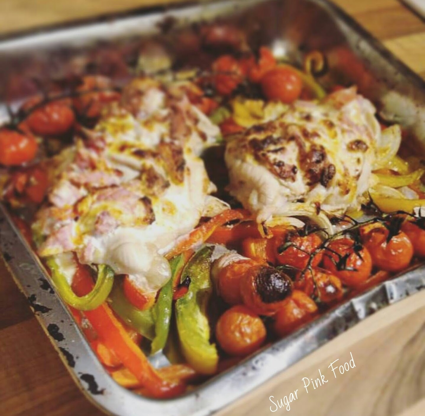 Slimming World Friendly Recipe:- Creamy Hassleback Chicken & Vegetable Bake
