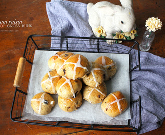 Taking an Easter classic up a notch with Rum Raisin Hot Cross Buns and KitchenAid