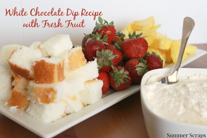 Summer Fruit with White Chocolate Dip and a #WorldMarket giveaway! #KickOffToSummerWeek2014 Day 4