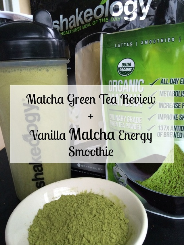 Vanilla Matcha Energy Smoothie