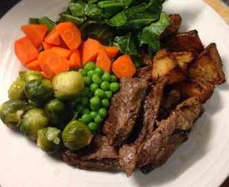 Mint marinaded lamb steaks (slimming world friendly)