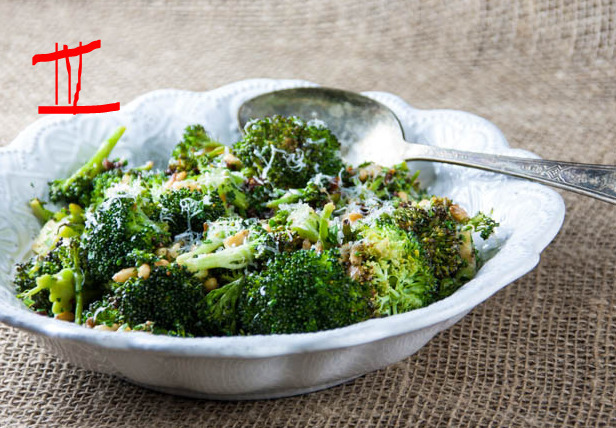 ROASTED BROCCOLI SALAD WITH PINE NUTS AND SUN-DRIED TOMATOES RECIPES