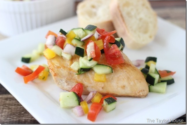 Healthy Recipe: Baked Chicken with Cucumber Salsa