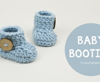 How to Crochet Fast and Easy Crochet Baby Booties | Croby Patterns
