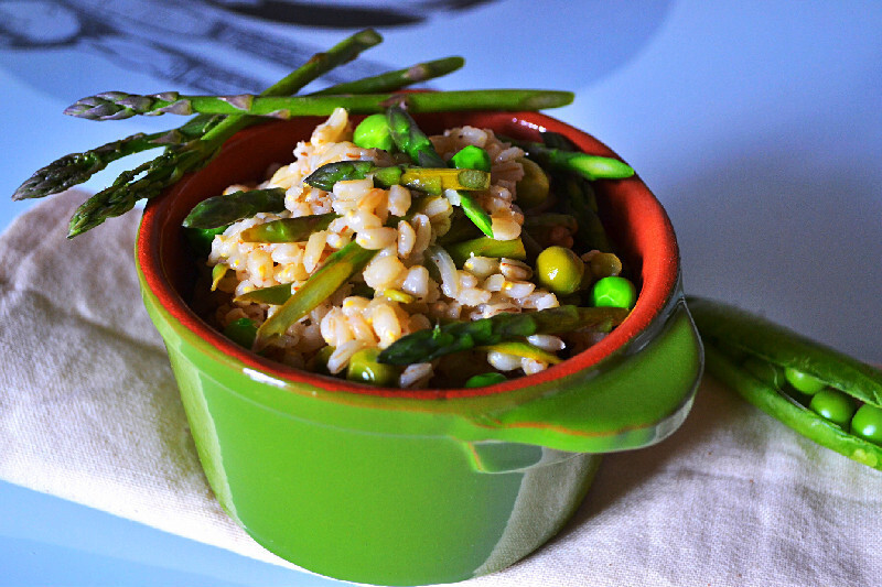 Spring Barley with Asparagus, Peas and Lemon